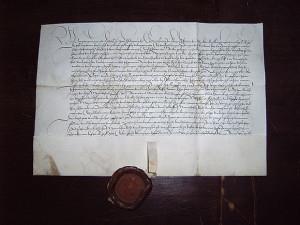 Угода про право власності Götz von Berlichingen на замок Hornberg. Фото з архіву Castellan/Burg Hornberg, у суспільному надбанні
